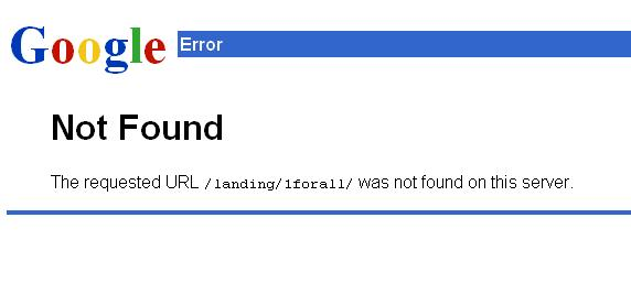 Google-404-Not-Found-Error